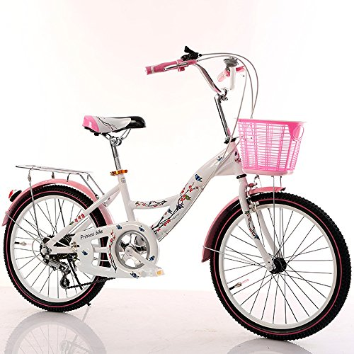 CivilWeaEU- Bicicletas para niños, 6-8-10-14 año Viejo Carro de bebé 20/22 Pulgadas niña Colegiala señora Bicicleta (Color : Black Tire, Tamaño : 20 Inches): Amazon.es: Hogar