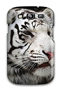 Pretty BWDUSiO8371YqkWe Galaxy S3 Case Cover/ White Bengal Tiger Series High Quality Case