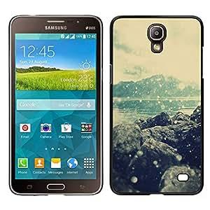 EJOY---Cubierta de la caja de protección para la piel dura ** Samsung Galaxy Mega 2 ** --Mar Hills Beach nieve del invierno