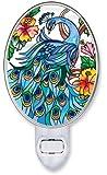 Amazon Com Midnight Peacock Decorative Night Light Home