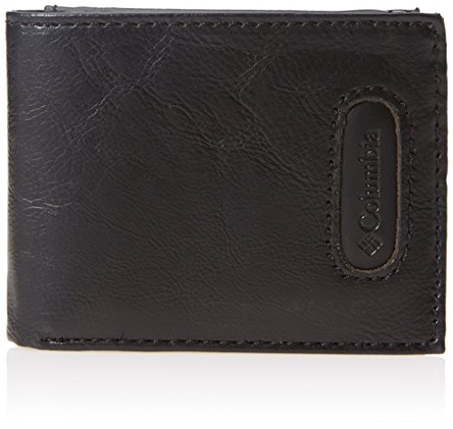Columbia Leather (Columbia Men's Rfid Blocking Passcase Wallet With Inlaid Logo Patch)