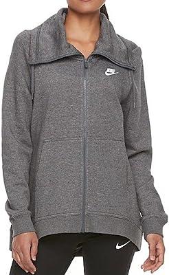 032b767097 Amazon.com   Nike Women s Sportswear Funnel Neck Zip Up Hoodie ...