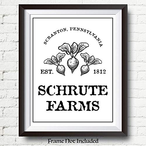 The Office Dwight Schrute Poster Print - Schrute Farms Poster - 11x14 UNFRAMED Wall Art - Great Gift Under $15 for Fans of The Office TV Show