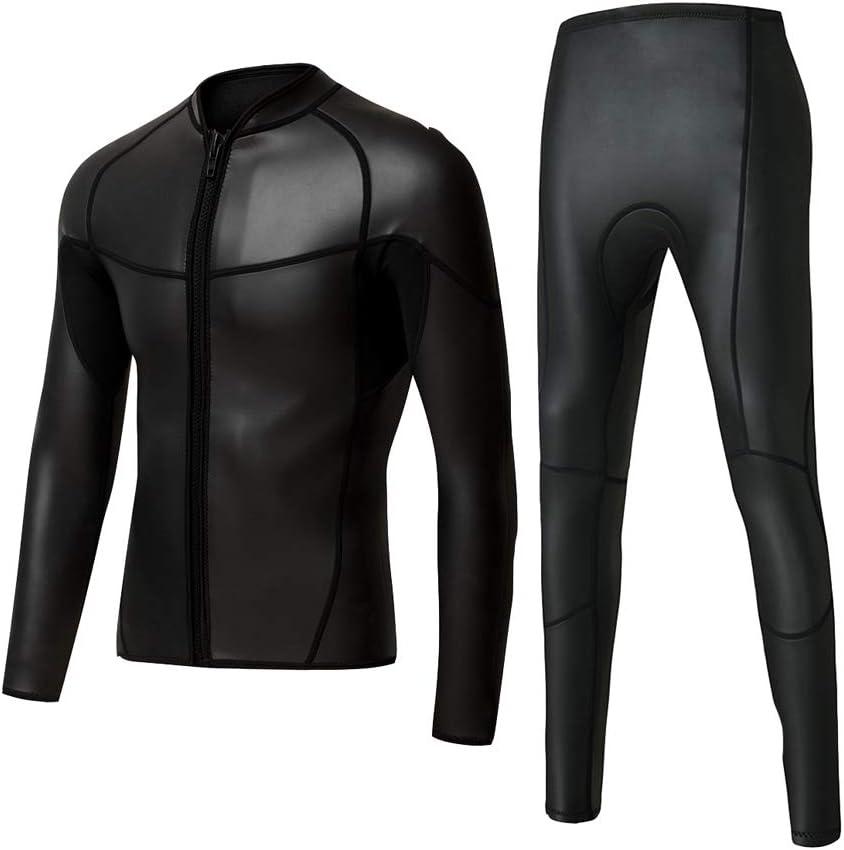 ネオプレンスムーススキントライアスロンジャケットウェットスーツトップフロントジッパー日焼け止めサーフィンを保つ暖かい水泳コート 青 XXXL