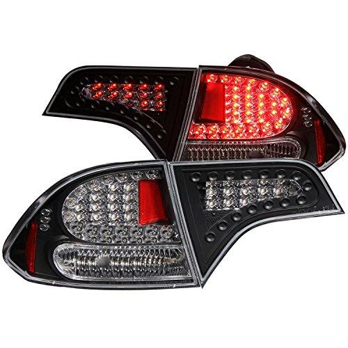 2006-2008 HONDA CIVIC JDM TAIL LIGHTS 4DOOR REAR BRAKE LAMPS+DRL LED RUNNING FOG