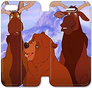 Personality Design Brother Bear-4 iPhone 6/6S 4.7 Inch Leather Flip Case
