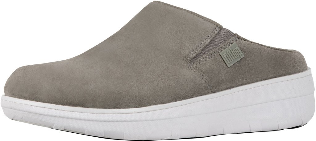 FitFlop Womens Loaff Suede Slip On Clog Shoes, Timberwolf, US 5