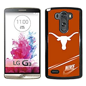 New Unique Custom Designed Case With NCAA Big 12 Conference Big12 Football Texas Longhorns 3 Black For LG G3 Phone Case