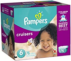 Pampers Cruisers, Unisex, Talla 6, 76 Pañales