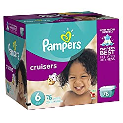 Pampers Cruisers Diapers Giant Pack, Size 6, 76 Count