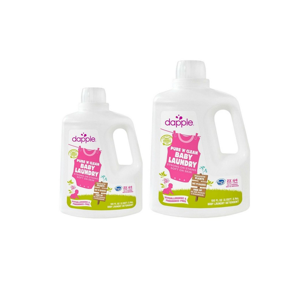 Dapple Baby Laundry Detergent, Fragrance Free, 100 Ounce (2 Pack)