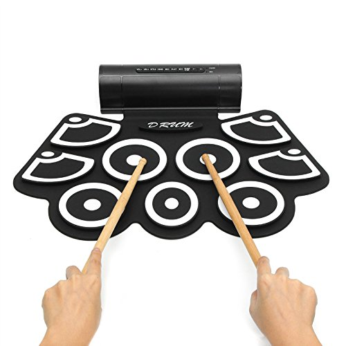 ZUINIUBI 9 Key Digital USB Portable Electronic Roll Up Drum With Built-in Speaker by ZUINIUBI