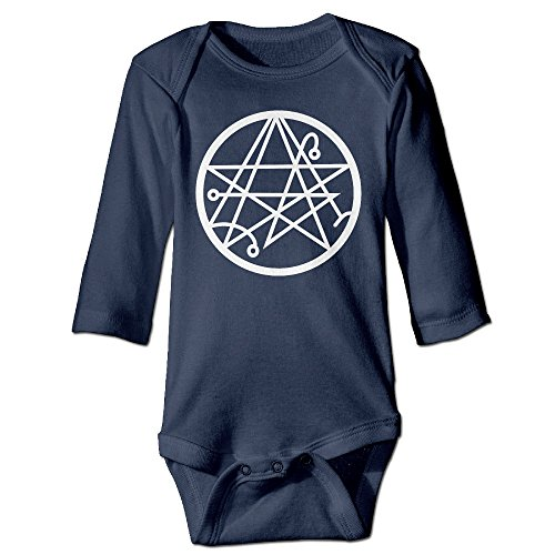 [Tara Necronomicon Logo For 6-24 Months Boys&Girls Romper Jumpsuit For 6-24 Months 12 Months Navy] (Maleficent Toddler Costumes)