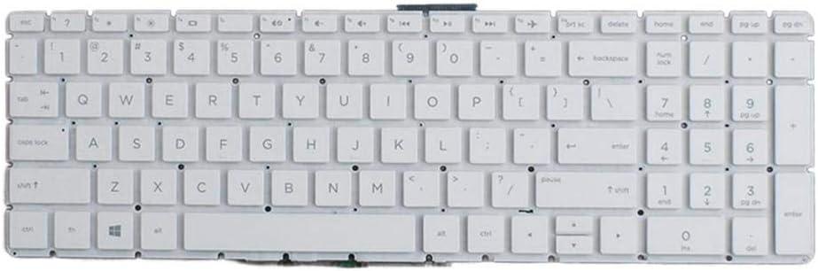 Almencla Teclado de Laptop Keyboard Compatible para HP Pavilion 15-BS Serie, 290 x 150 x 5 mm - Blanco