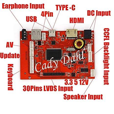 Amazon com: Type C USB HDMI AV Earphone + 40P LVDS Cable +