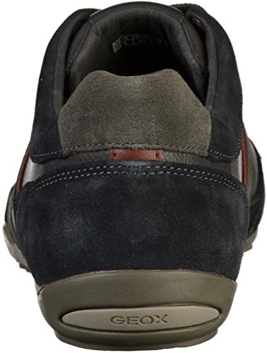 Geox Men's U Wells C Low-Top Sneakers Blue (Navy/Dk Burgundy Cf47j) iV375LrAp