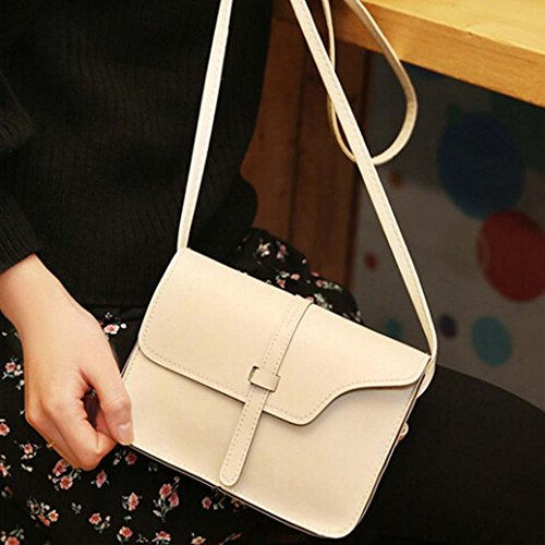 Leather Messenger Body Shoulder Little Bag Paymenow Leisure Bag Crossbody Cross Beige Bag Handle Shoulder qwZazX