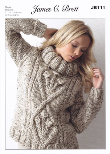 Amazon James Brett Mega Chunky Knitting Pattern Jb111 Ladies