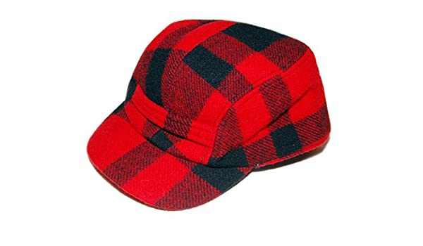 352ebd8fbaf Polo Ralph Lauren Mens Vintage Hunting Buffalo Plaid Wool Hat Cap Red  Large XL at Amazon Men s Clothing store