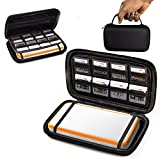 ORZLY 2DSXL Case, Carry Case for New Nintendo 2DS XL - Protective Hard Shell Portable Travel Case Pouch for New 2DS XL Console with Slots for Games & Zip Pocket - BLACK on Black