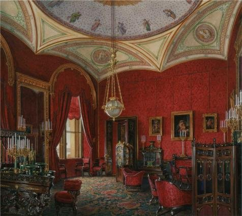 Oil Painting 'Hau Edward Petrovich,Interiors Of The Winter Palace,The Study Of Empress Alexandra Fyodorovna 01,1807-1887' Printing On High Quality Polyster Canvas , 18x20 Inch / 46x51 Cm ,the Best Nursery Decor And Home Decor And Gifts Is This Imitations Art DecorativeCanvas Prints - 80's Personal Trainer Costume