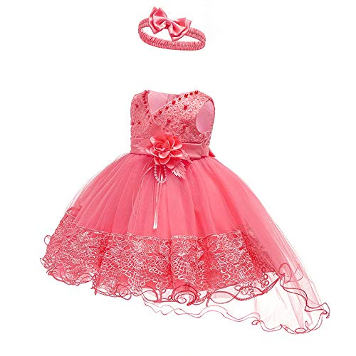 Baby Toddler Lace - Baby Toddler Lace Dress Girls First Baptism Elegant Embroidery Wedding Party Flower Bridesmaid Dresses Up