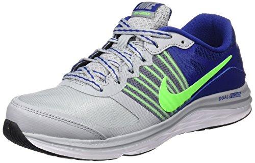 Nike Dual Fushion X (GS) - Zapatillas para niño Gris (Wolf Grey / Grn Strike Dp Ryl Bl)