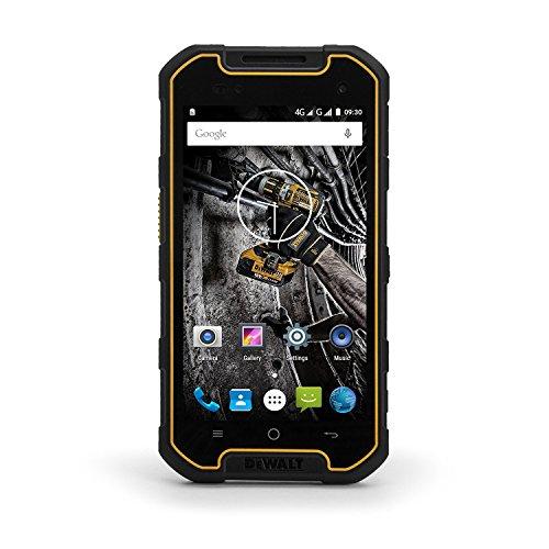 "Price comparison product image DEWALT MD501 Rugged Smartphone (16GB) 5.0"" HD IP68 Water Proof 4G LTE Dual SIM GSM Unlocked (International Model,  No Warranty) Black"