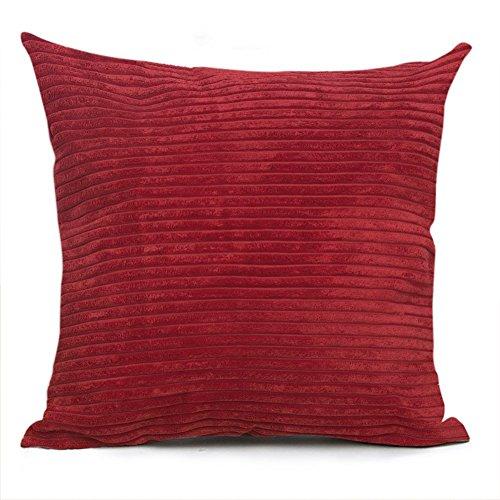 Smiry Striped Corduroy Pillowcase Decorative