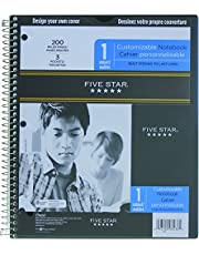 Five Star 08238 Clear View Notebook 1-Subject, 11x8-1/2-Inch, 100-Sheet, Assorted Colors