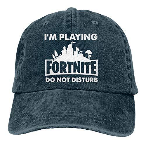 I'm Playing FORNITE DO NOT Disturb Washed Denim Hat Unisex Dad Baseball Cap