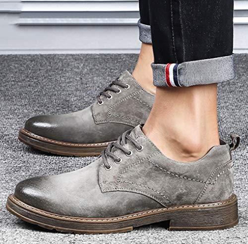 Casual Moda Scarpe Business Comode Scarpe E Uomo Grey Britanniche Versatili vgpUWg4H