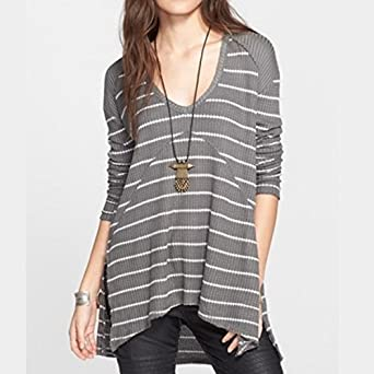 e42bb433322 Image Unavailable. Image not available for. Color: Free People Long-Sleeve Sunset  Park Thermal Tunic ...