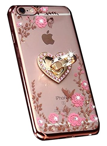 Crystal Case Inspirationc Rhinestone Detachable Stand Rose