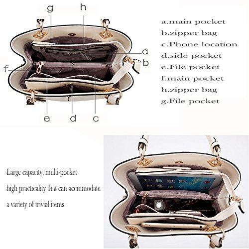 sac Rose Supérieure à À Poignée Main bandoulière Sac Épaule Panzexin Mode multi grise Pocket Bleu Femmes xPYZqvZg