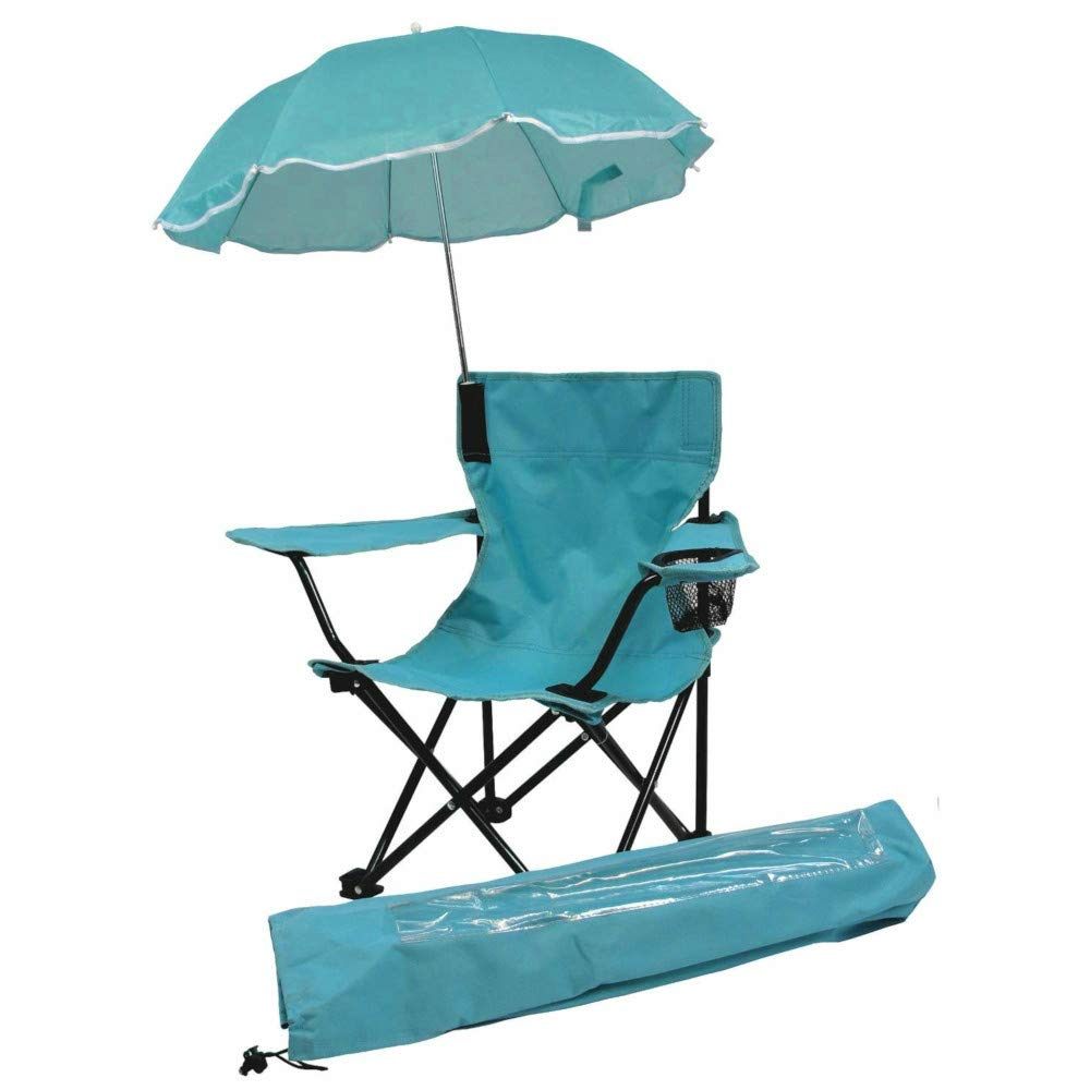 big_store Beach Baby All Season Umbrella Chair Matching Shoulder Bag Aqua Complete Folding Camp Chair Removable Shade Umbrella & Matching Tote Bag & ebook