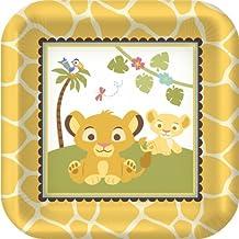 Hallmark Disney Lion King Baby Shower Shaped Dessert Plates (8) Party Accessory