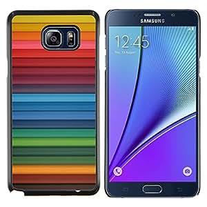Stuss Case / Funda Carcasa protectora - Arco iris de las rayas azules rojas Patrón - Samsung Galaxy Note 5
