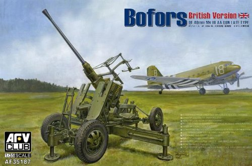 (AFV Club 1/35 British Version of Bofors 40MM MK III AA GUN AF35187)