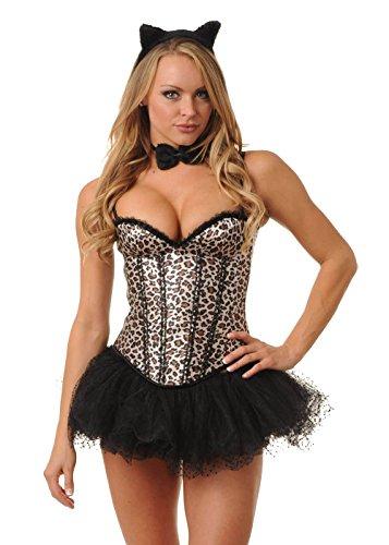 Velvet Kitten Leapin Leopard Corset Costume Kit #7956 (Medium) (Leopard Costume Sexy)