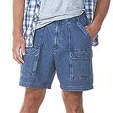 Savane Men's Comfort Hiking Cargo Shorts (36, Denim)