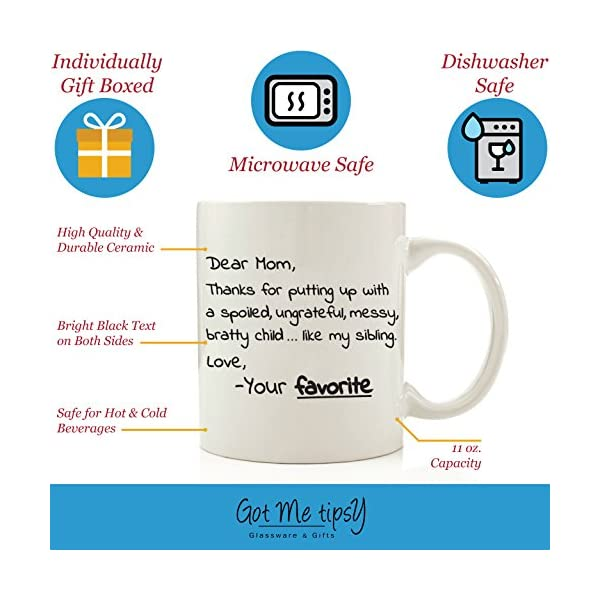 """/""""Dear Mom Thanks for putting up with my sibling/"""" 11oz Coffee Mug FREE SHIPPING!"""