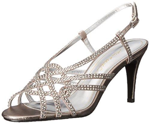 Caparros Kvinners Seier Kjole Sandal Sopp Metallic