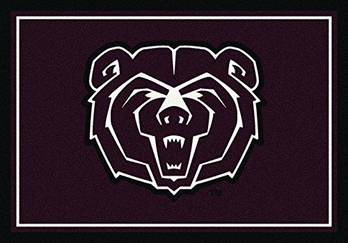 (NCAA Missouri State Bears Area Rug, Maroon, 5'4