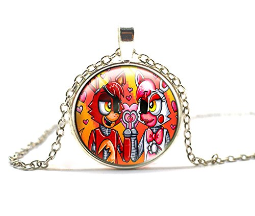 Mangle Costume For Sale (FNAF NECKLACE FIVE NIGHTS AT FREDDY'S PENDANT NECKLACE (FOXY WITH MANGLE))