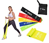 Cheap A Set of 5 Resistance Loop Bands and a 6.5ft Straight Band for Workout, Exercise, CrossFit Fitness, and Stretching