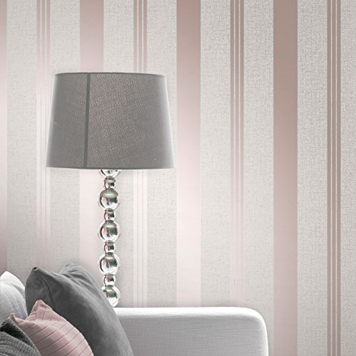 Quartz Stripe Wallpaper Rose Gold Fine Decor FD42205 by Fine Decor (Image #1)