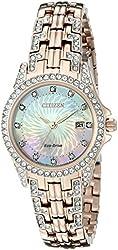 Citizen Eco-Drive Women's EW1228-53D Silhouette Crystal Watch