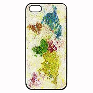 Art Painting World Map Unique Printed Plastic Rubber Sillicone Customized iPhone 4 Case, iPhone 4S Case Cover, Protection Quique Cover, Perfect fit, Show your own personalized phone Case for iphone 4 & iphone 4S by icecream design