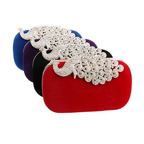 FUBULE Femme Pochette Violet Red pour Violet rqr1E